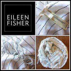 Eileen Fisher Organic Cotton White & Black Scarf!